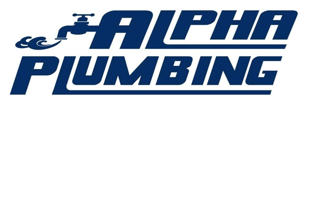 Alpha Plumbing Double Logo (Navy Blue)